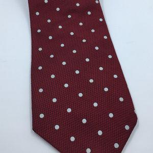 Ralph Lauren Red White Polka Dot Men's Necktie